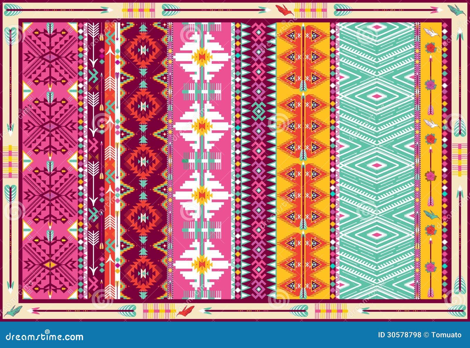 tapis azt que color sans couture avec des oiseaux photos libres de droits image 30578798. Black Bedroom Furniture Sets. Home Design Ideas
