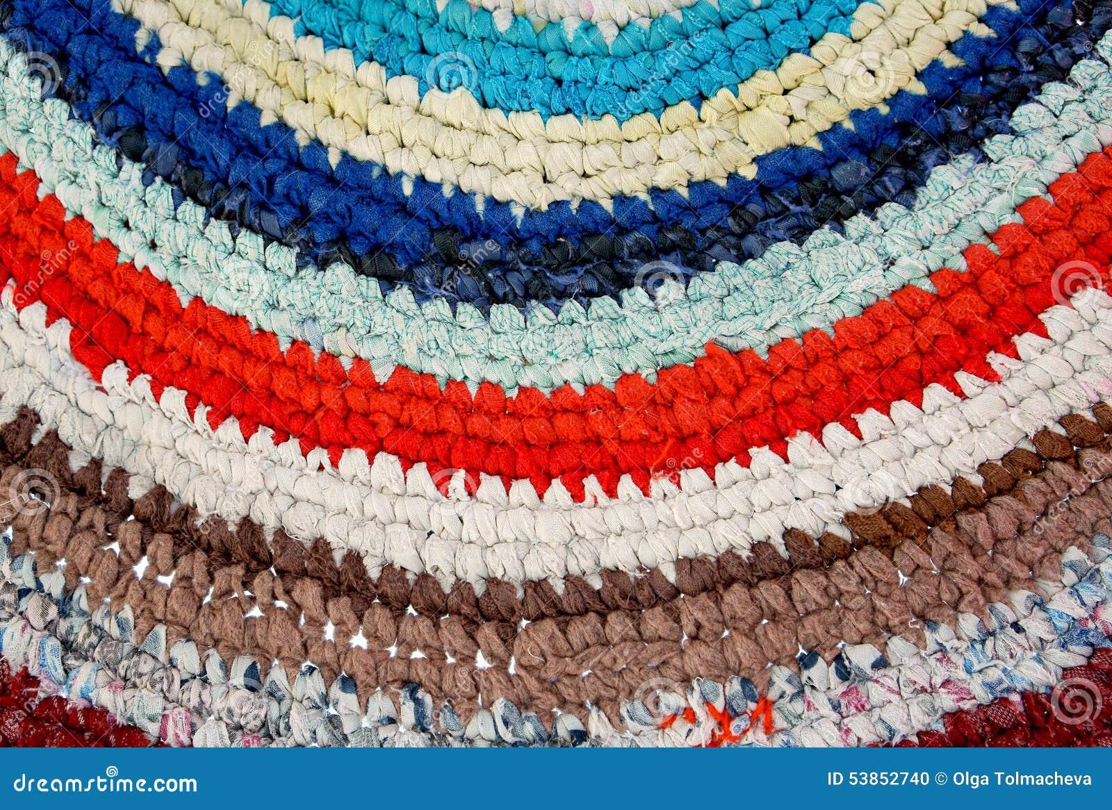 tapis de couleur crochet tricot fait main photo stock image 53852740. Black Bedroom Furniture Sets. Home Design Ideas