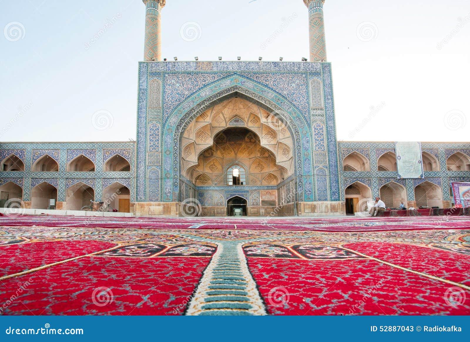 Tapis de perse c t de mosqu e historique avec le style Architecture perse