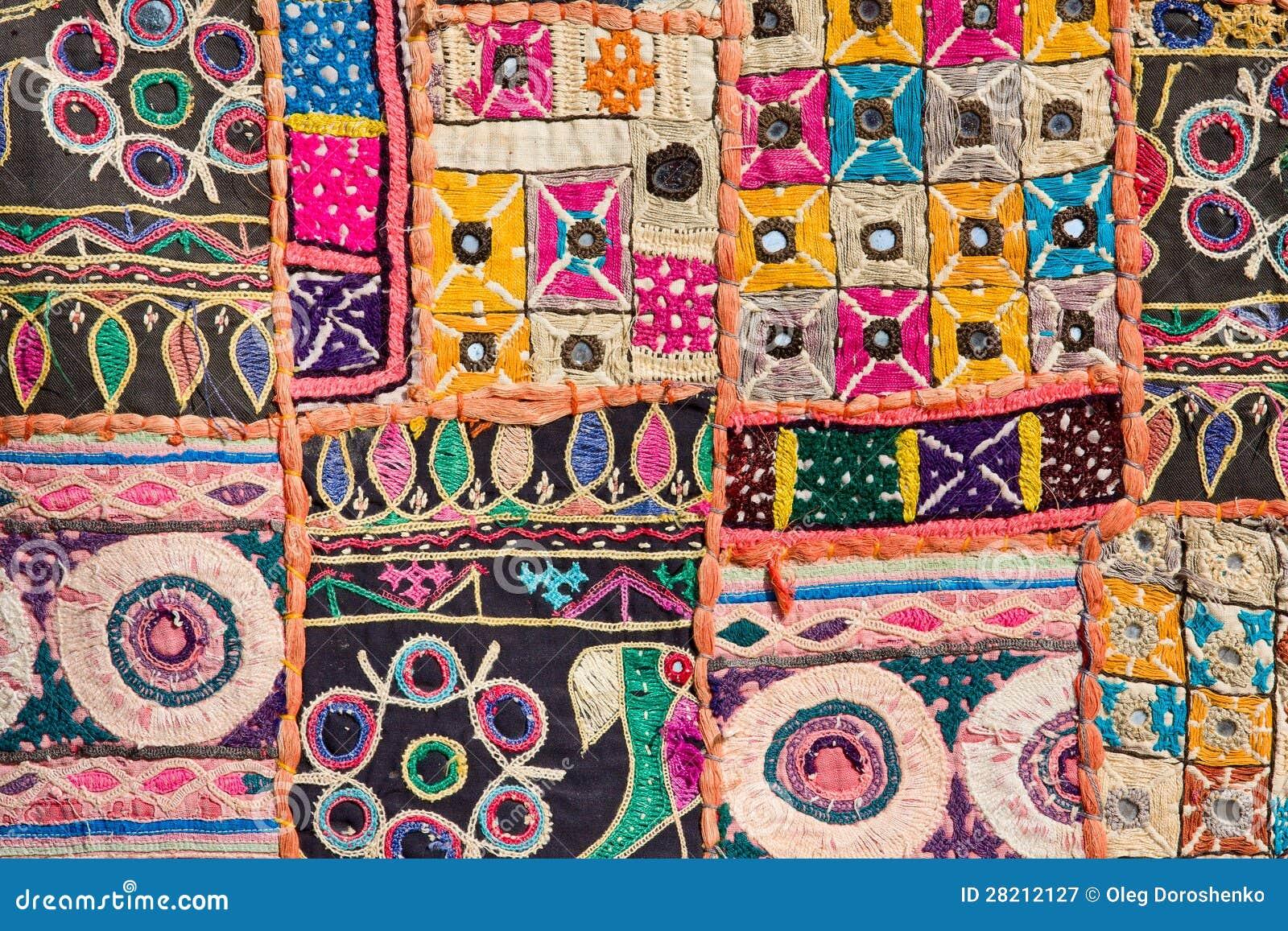 tapis indien de patchwork photographie stock libre de. Black Bedroom Furniture Sets. Home Design Ideas