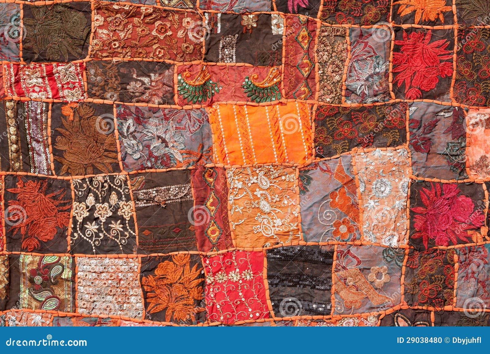 tapis indien de patchwork photo stock image 29038480. Black Bedroom Furniture Sets. Home Design Ideas