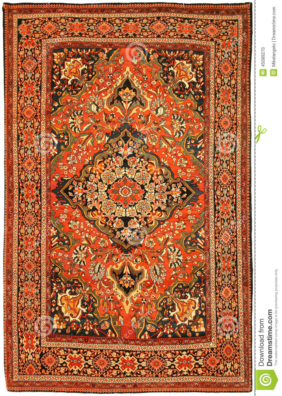 tapis iranien persan rouge antique photo stock image 45089270. Black Bedroom Furniture Sets. Home Design Ideas