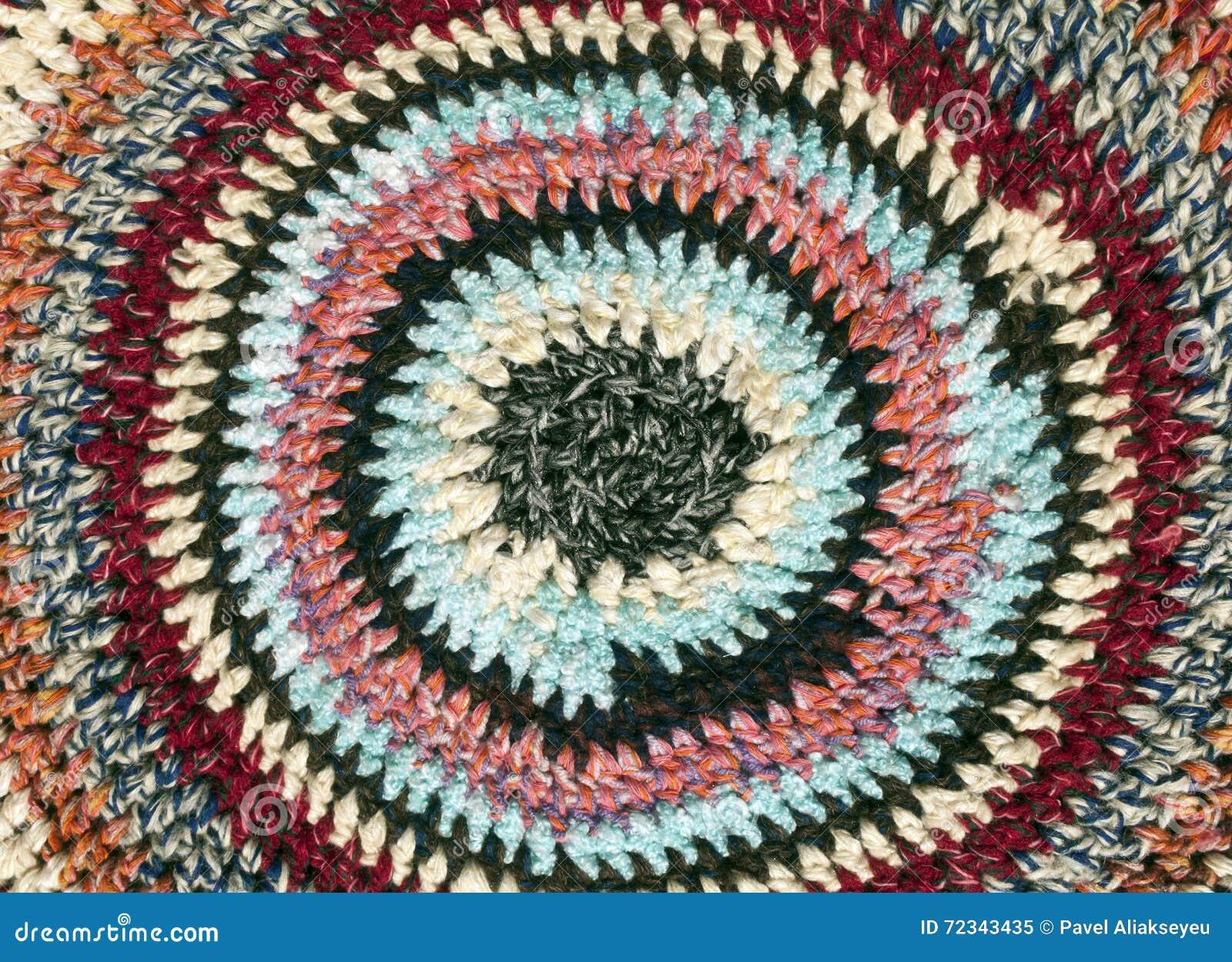 tapis rond color de textile - Tapis Rond Color