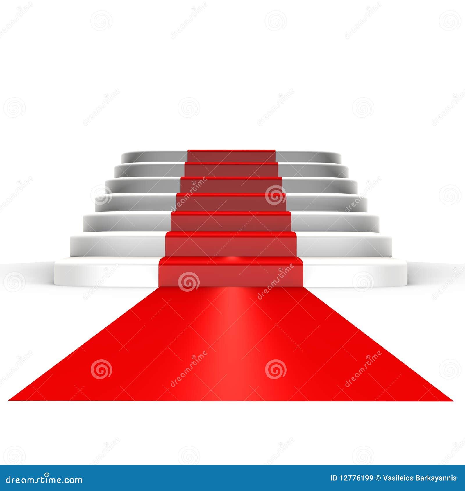 Tapis rouge à la renommée - une image 3d