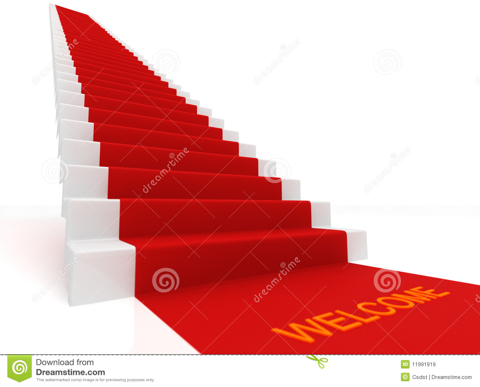 Tapis Rouge Sur Les Escaliers Images Libres De Droits Image 11991919