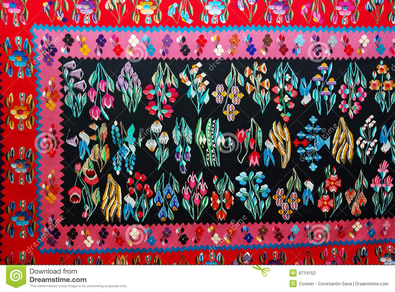 Tapis Traditionnel Roumain Photographie stock  Image 9719152