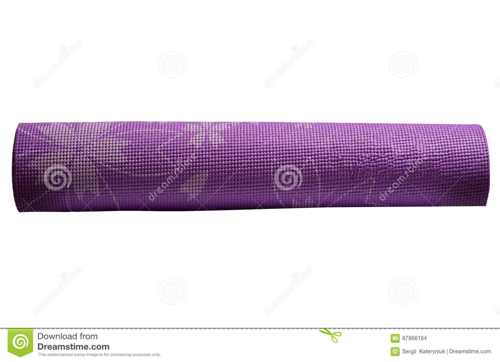 Tapis Violet De Yoga Sur Un Fond Blanc Photo stock - Image du ...
