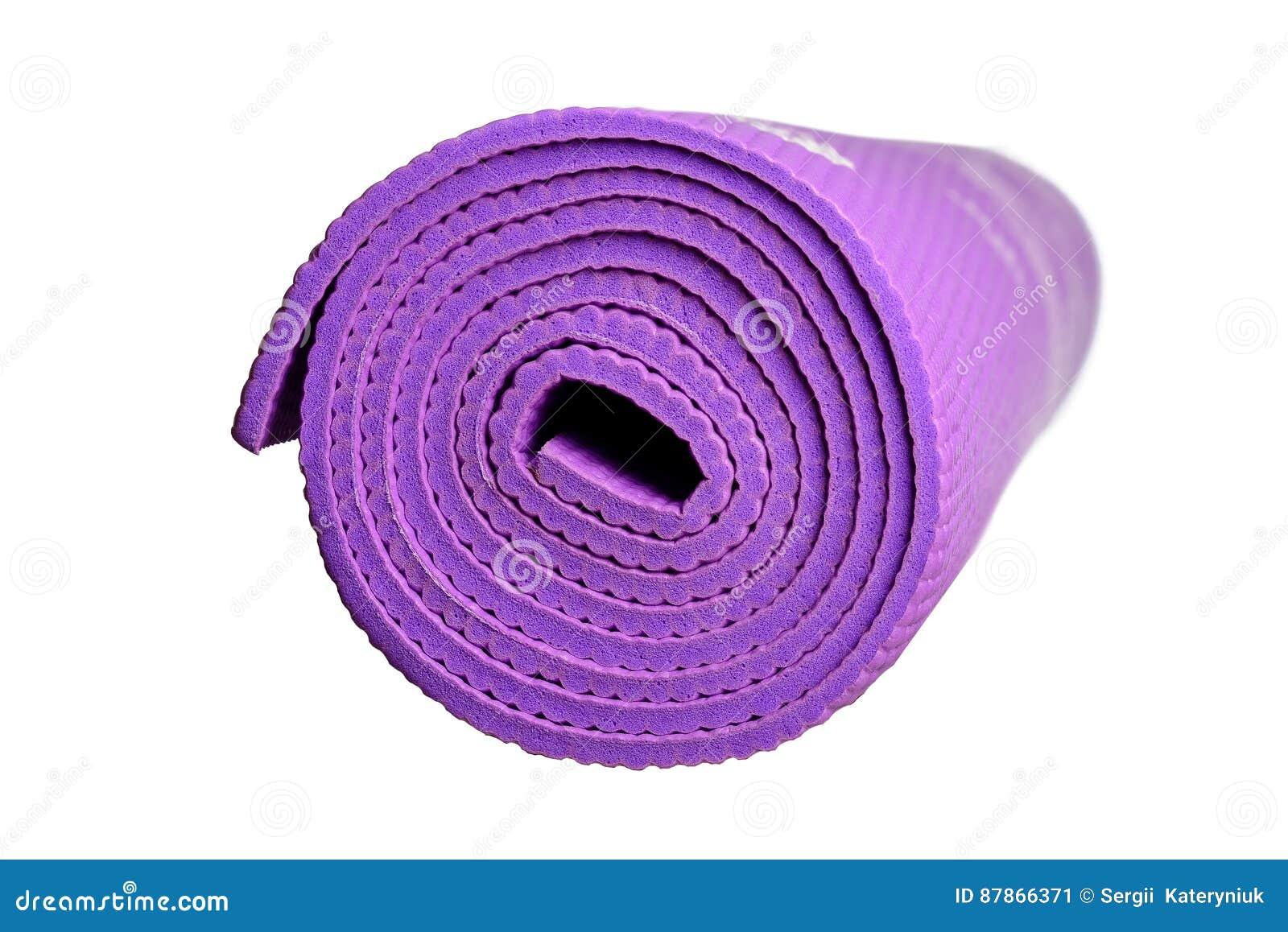 Tapis Violet De Yoga Sur Un Fond Blanc Image stock - Image du rendu ...