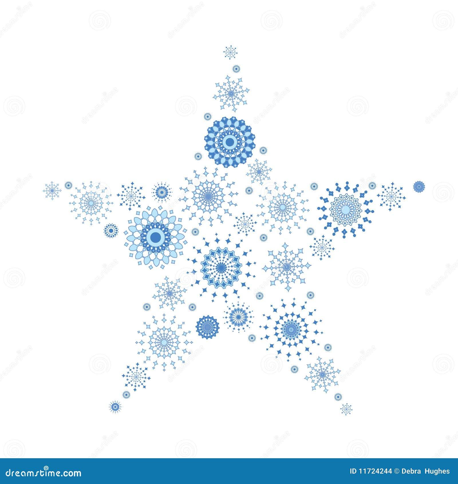 Tapisserie de flocon de neige dans la forme de l étoile