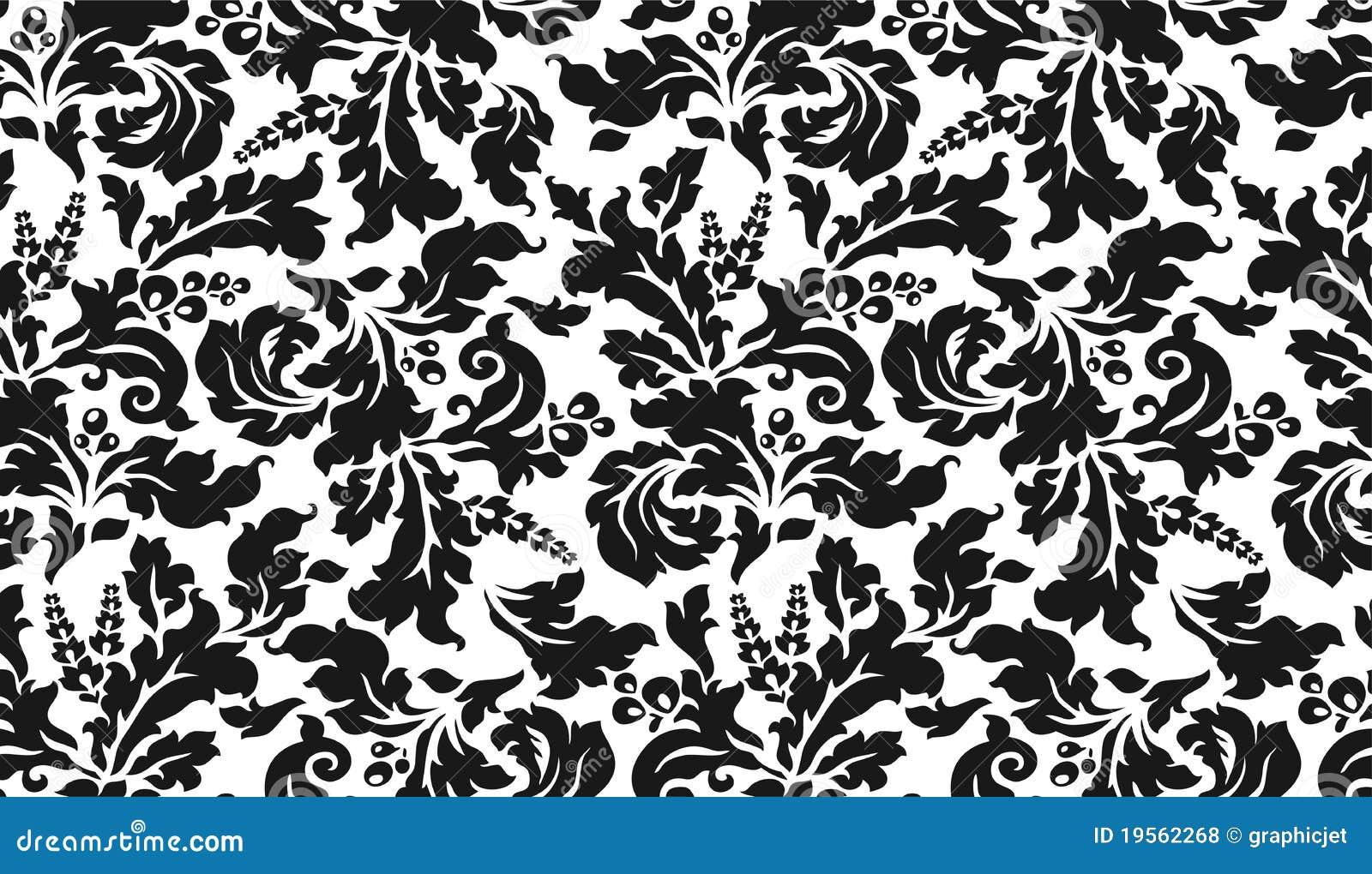 Tapisserie Noire Et Blanche Avec Des Fleurs Photos libres ...