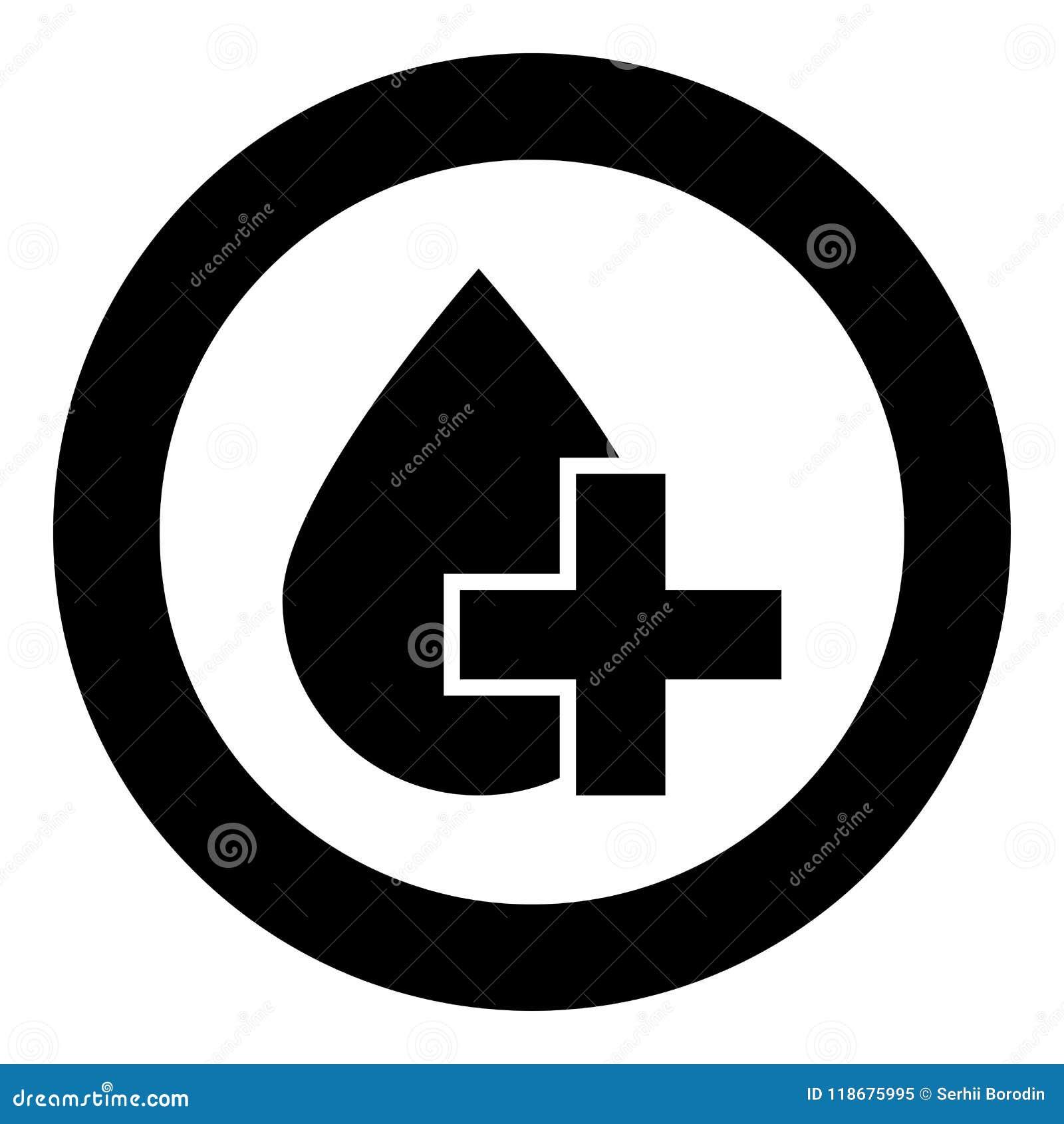 Tappa och korsa symbolssvartfärg i cirkelrunda