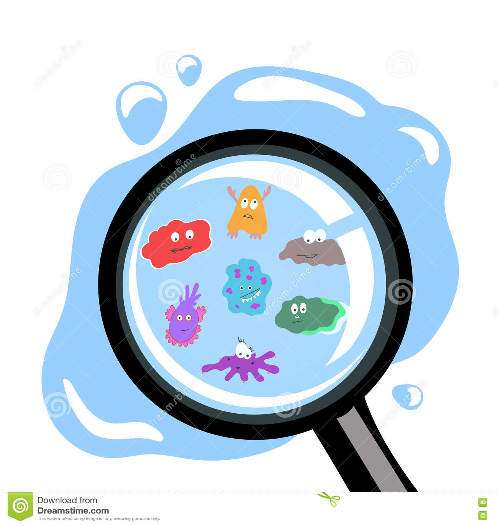 Tappar bakterier i vattnet under förstoringsapparaten