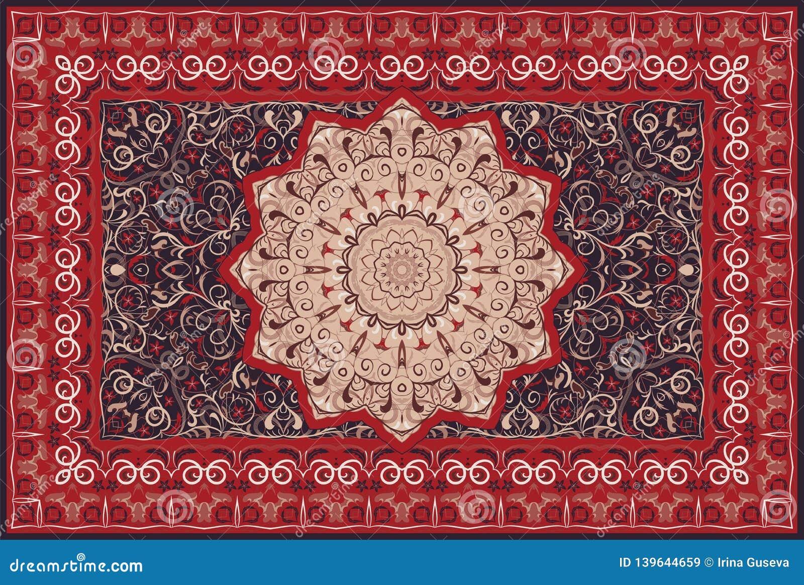 Tappeto colorato persiano