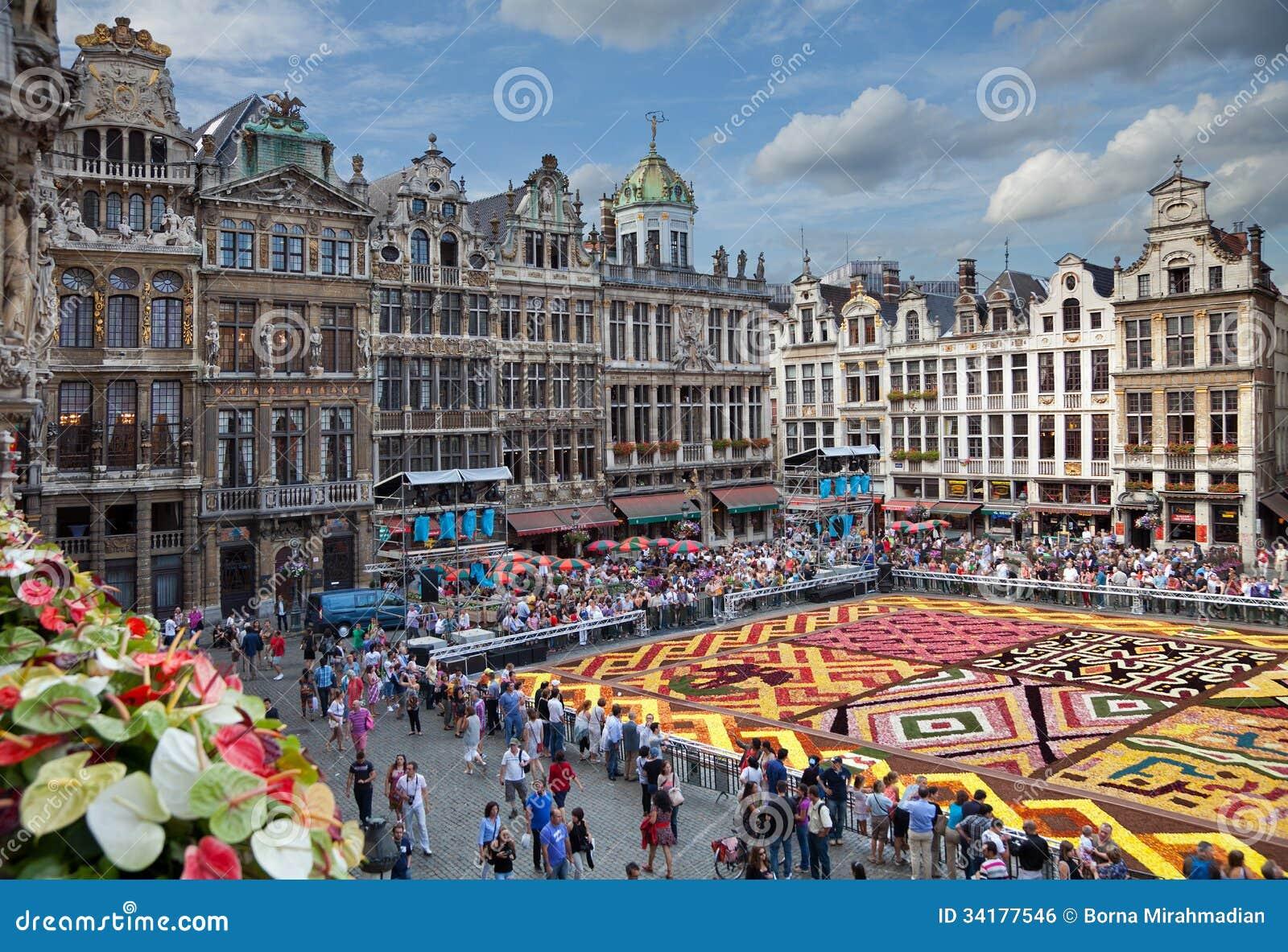 Tappeto Floreale Bruxelles : Bruxelles ago foto scattata su agosto mostra