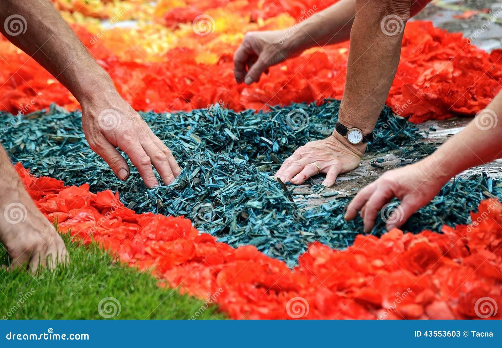 Tappeto Floreale Bruxelles : Parte rossa del tappeto di fiori sulla grand place di bruxelles