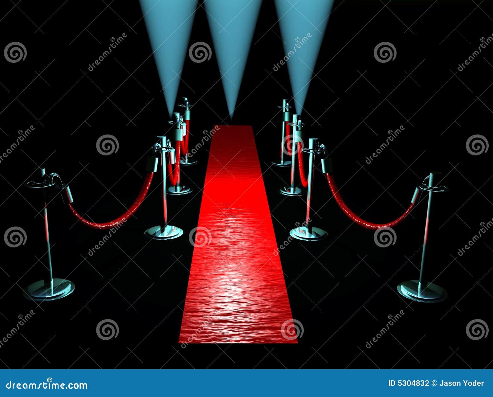 Download Tappeto rosso illustrazione di stock. Illustrazione di luci - 5304832