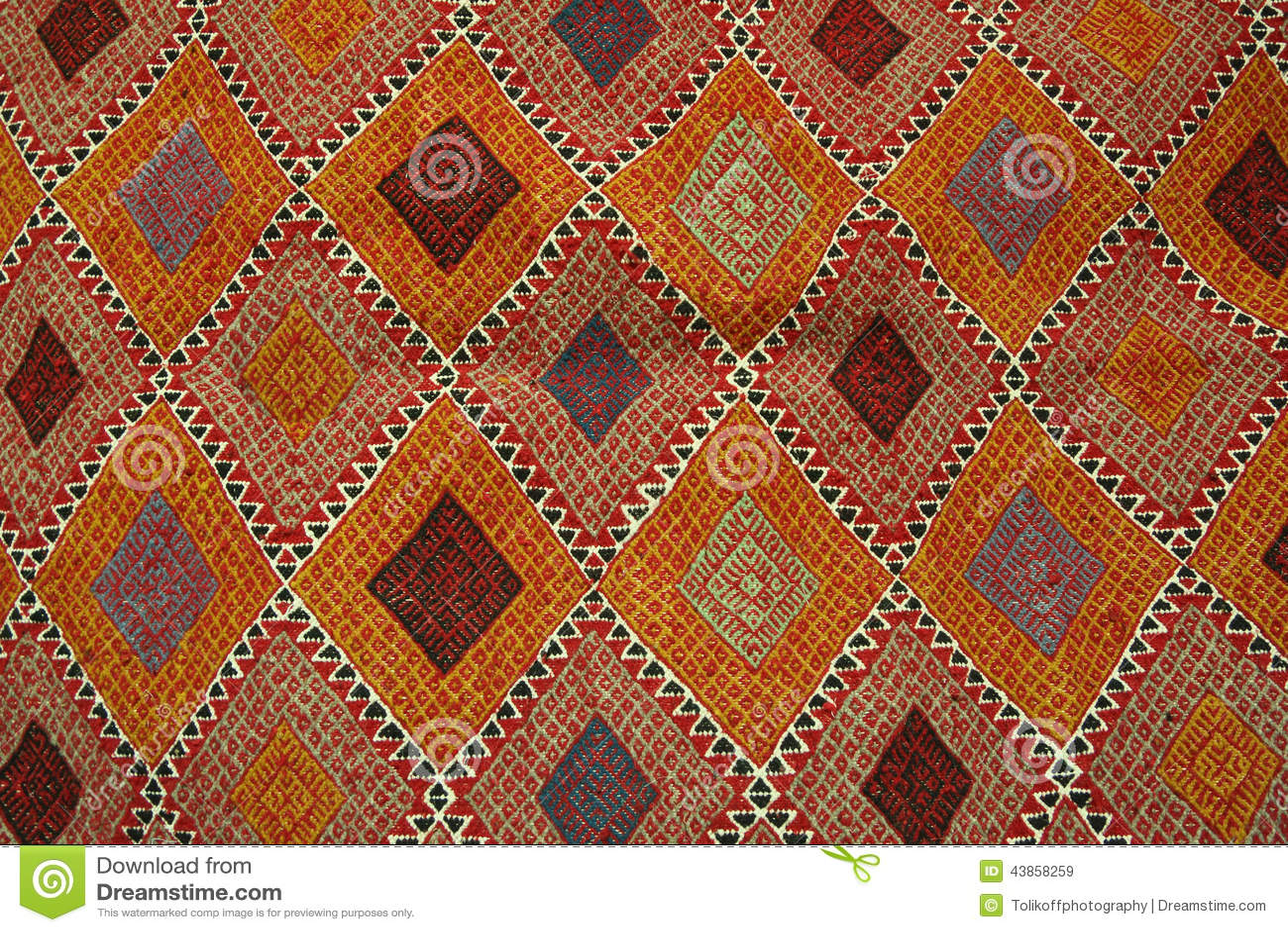 Tappeto Tunisino - Margoum Fotografia Stock - Immagine ...