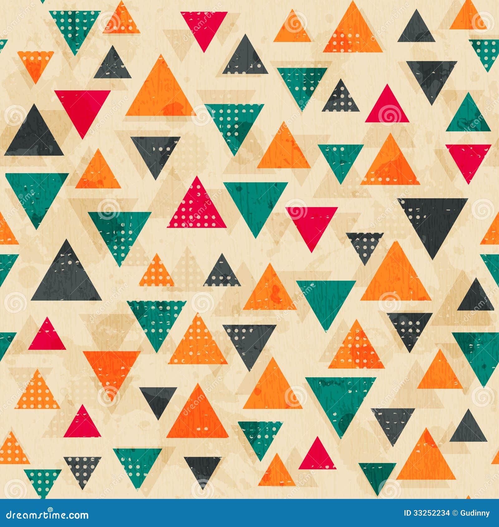Tappning färgad triangelmodell med grungeeffekt