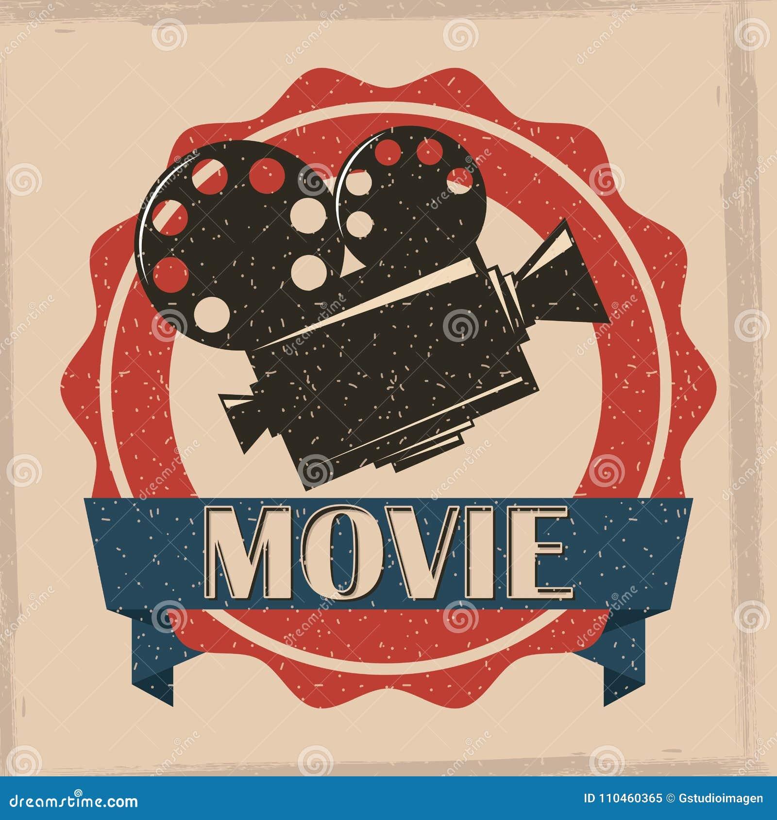 Tappning för affisch för filmfilmprojektor retro