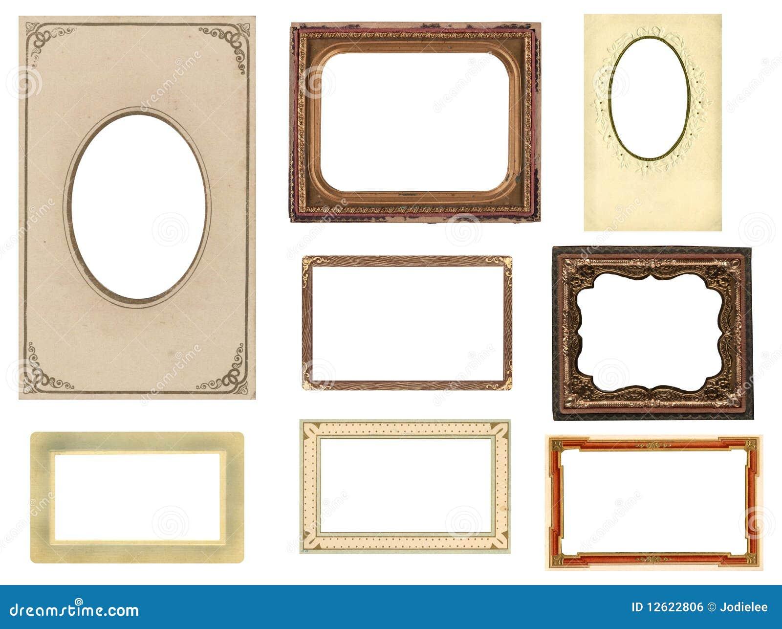 Tappning för foto för åtta ramar set