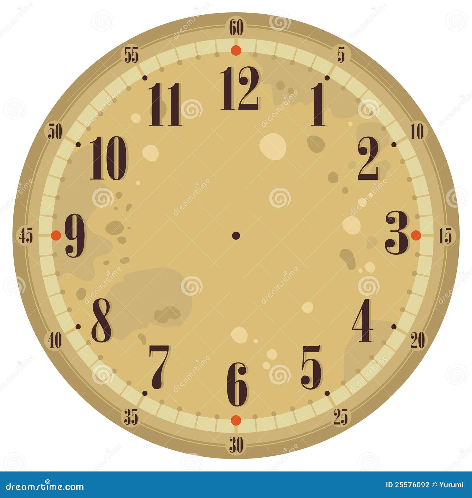 Tappning för klockaframsida