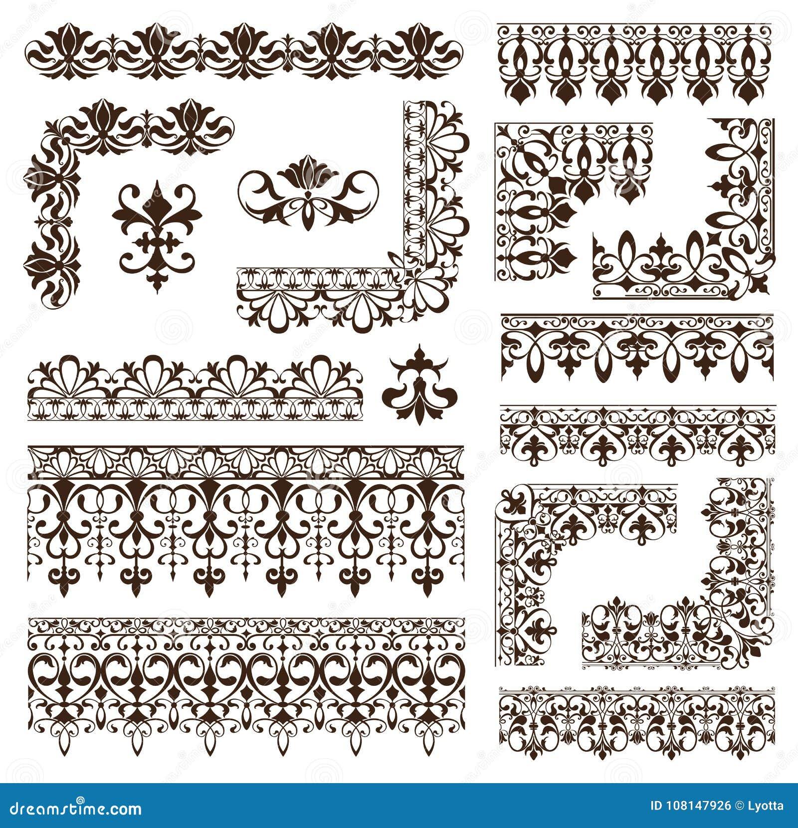 Tappning inramar, tränga någon, gränsar med delikata virvlar i Art Nouveau för garnering, och designen arbetar med blom- motivtap