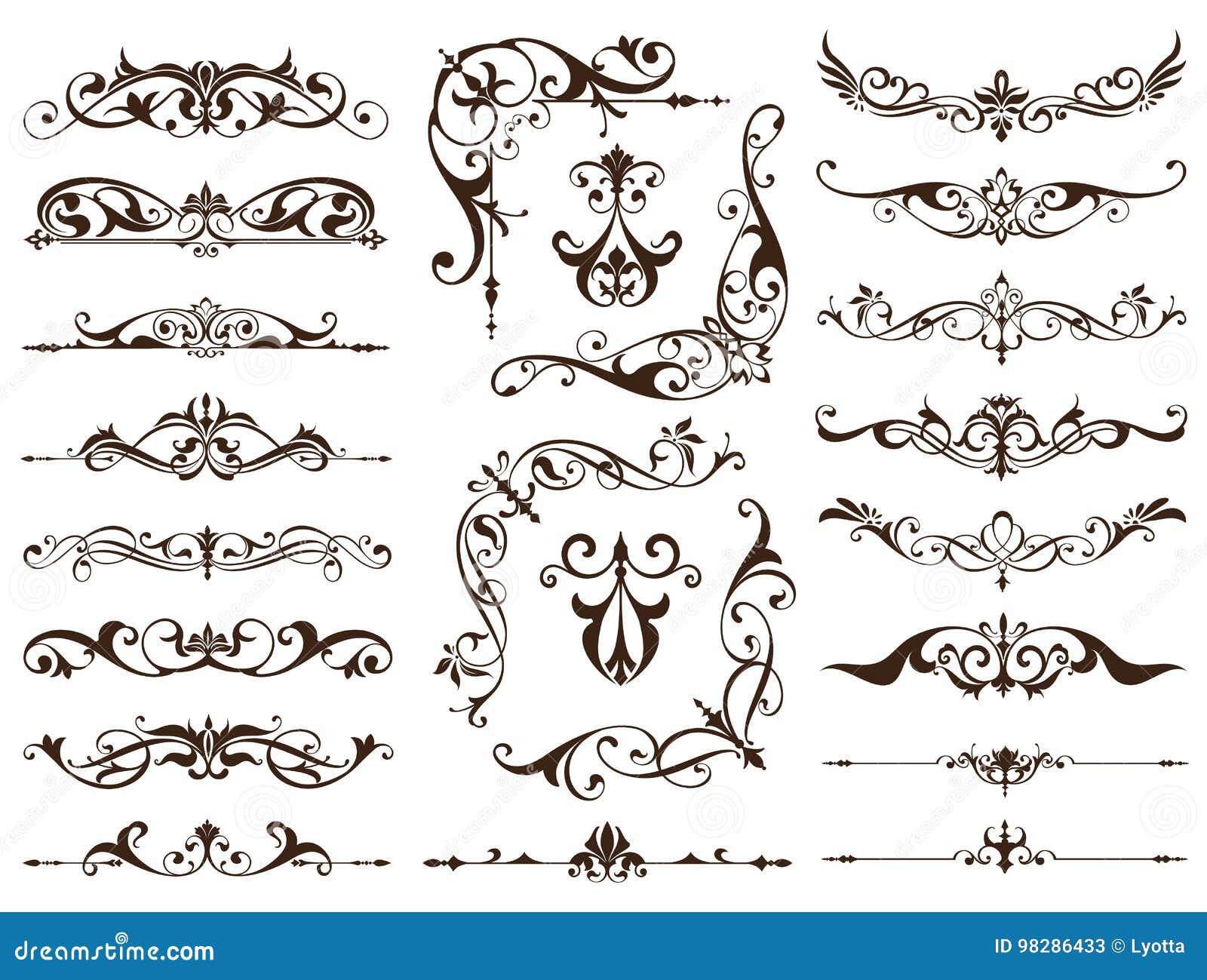 Tappning inramar, tränga någon, gränsar med delikata virvlar i Art Nouveau garnering, och designen arbetar med blom- motivtappnin
