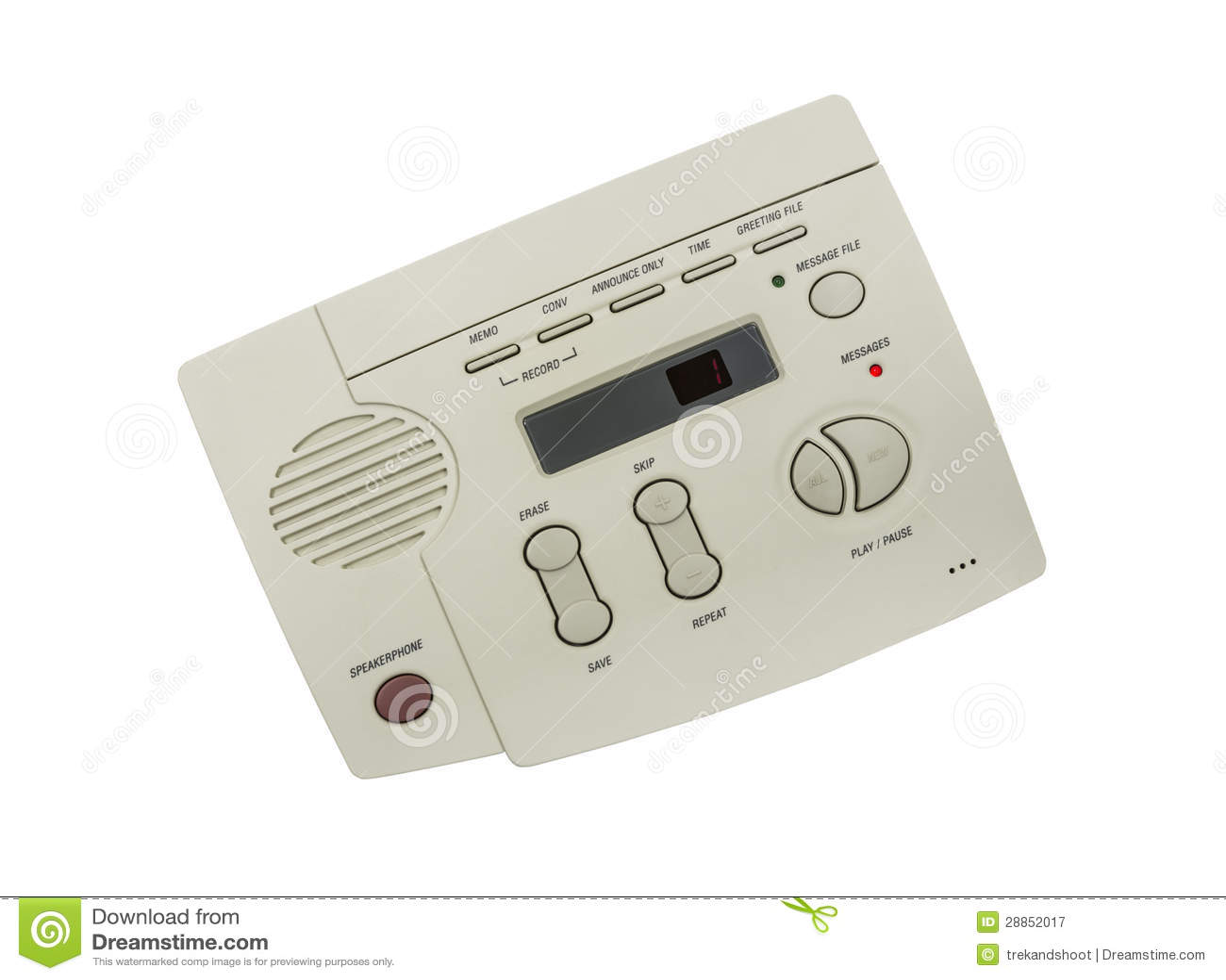 Tappning ringer den isolerade telefonsvararen