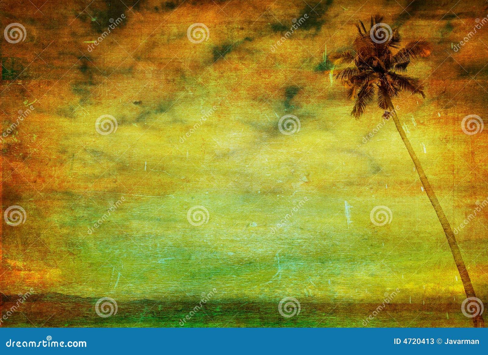 Tappningbild av palmträdet
