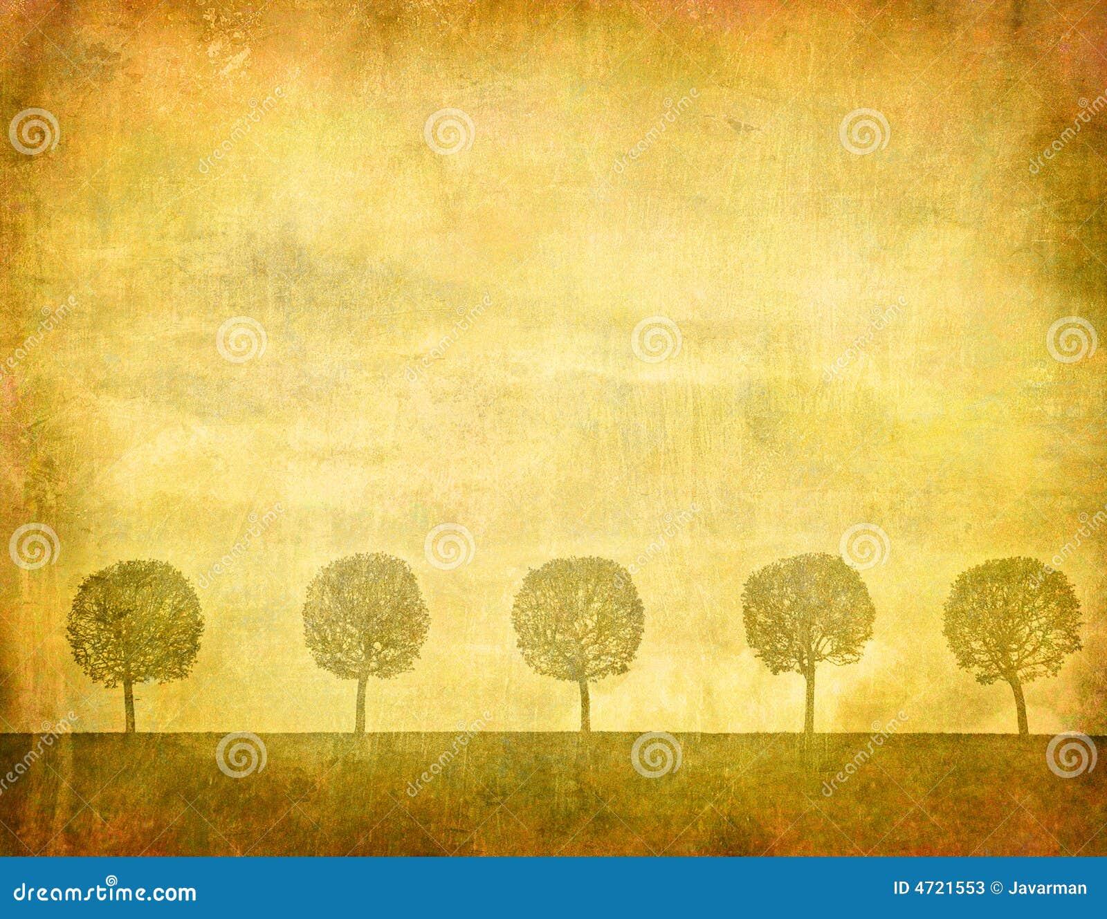 Tappningbild av trees
