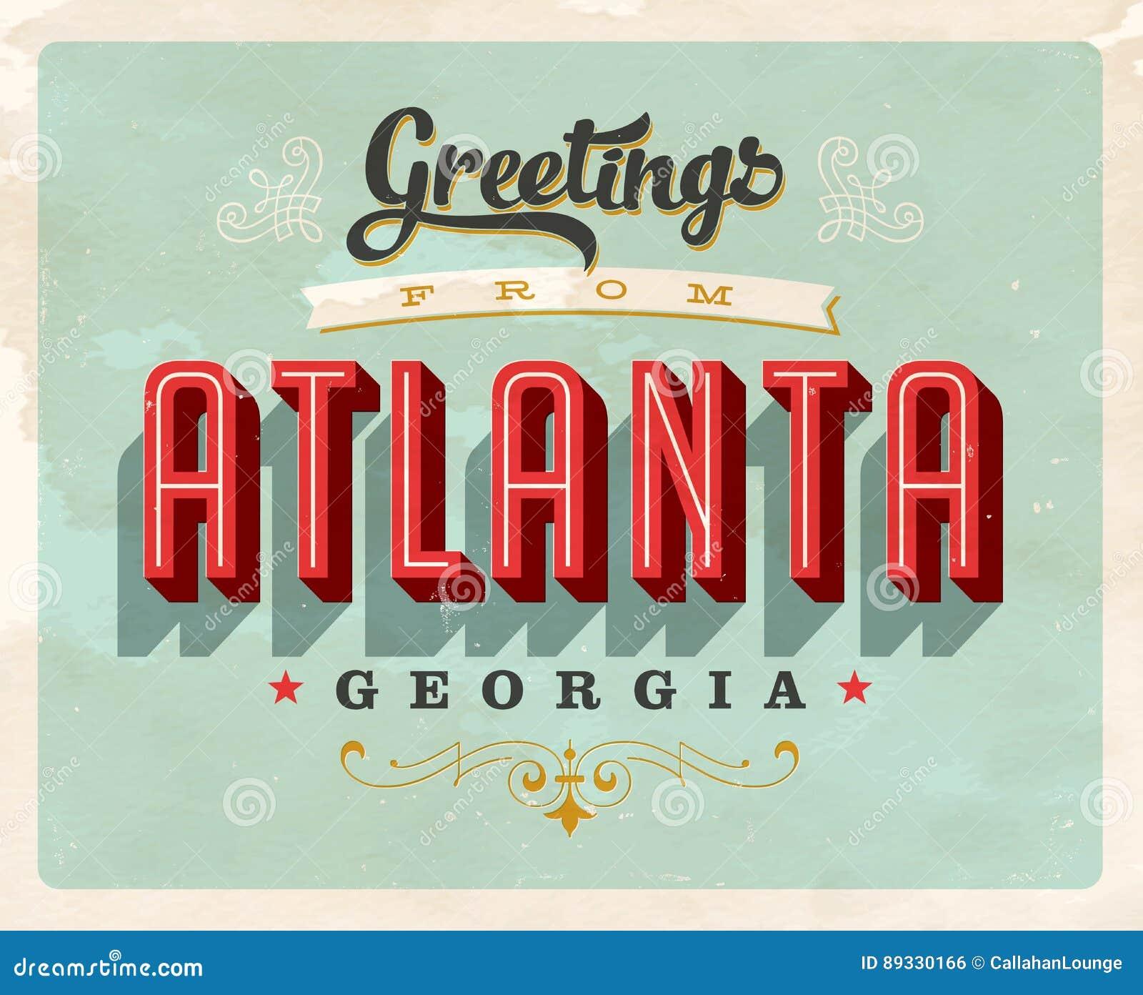 Tappninghälsningar från Atlanta semesterkort