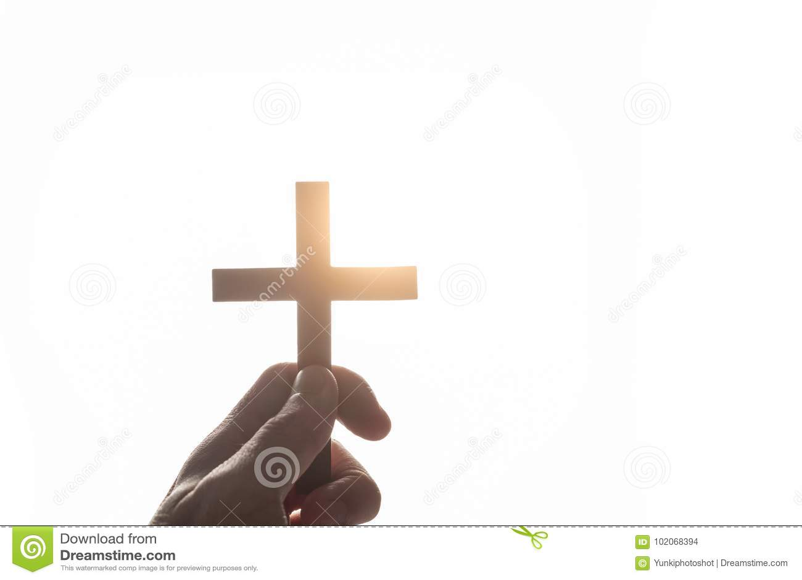 Tappninghand av en kristen man