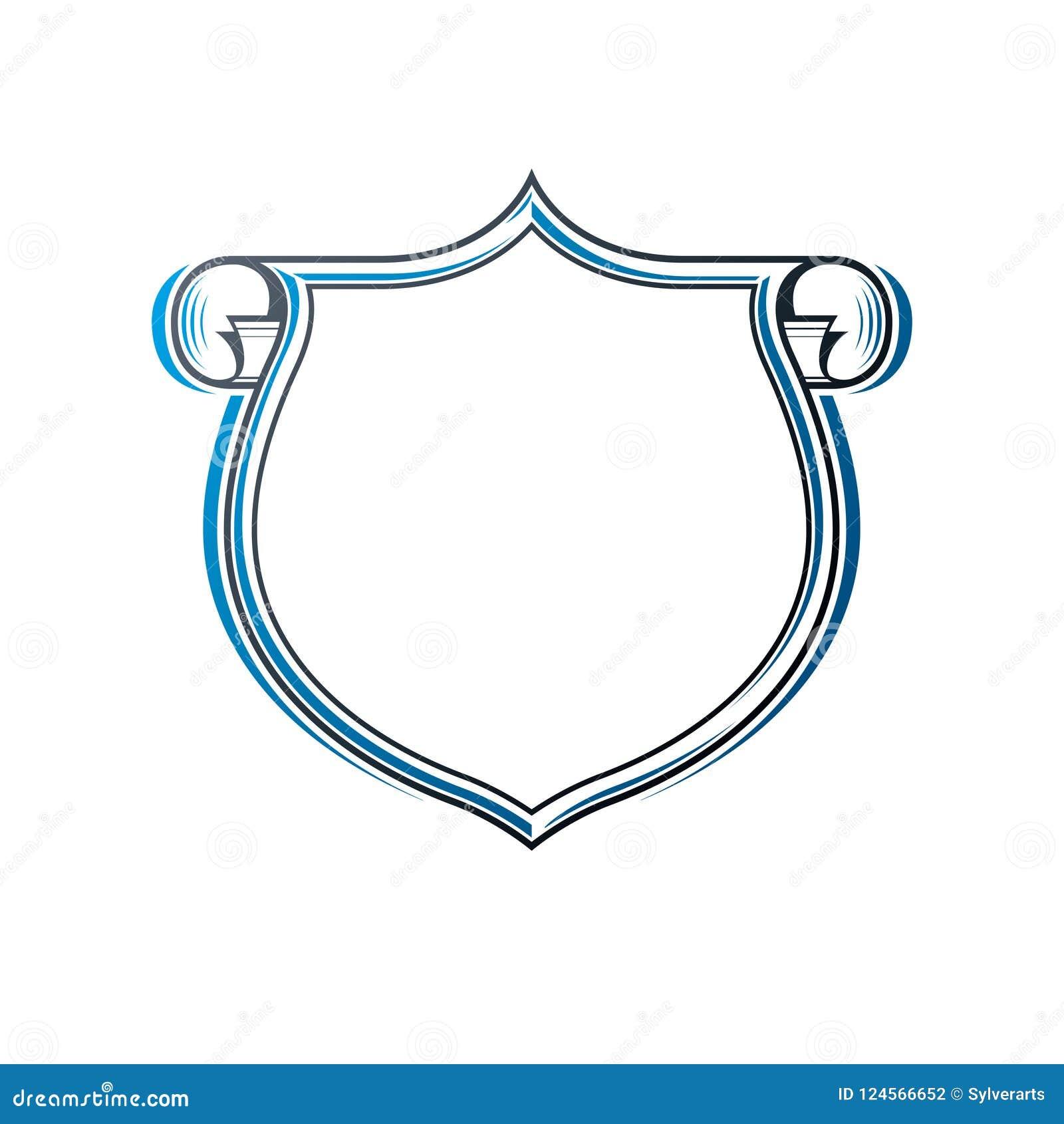 Tappningram med klart kopia-utrymme och cartouchen, heraldisk desi