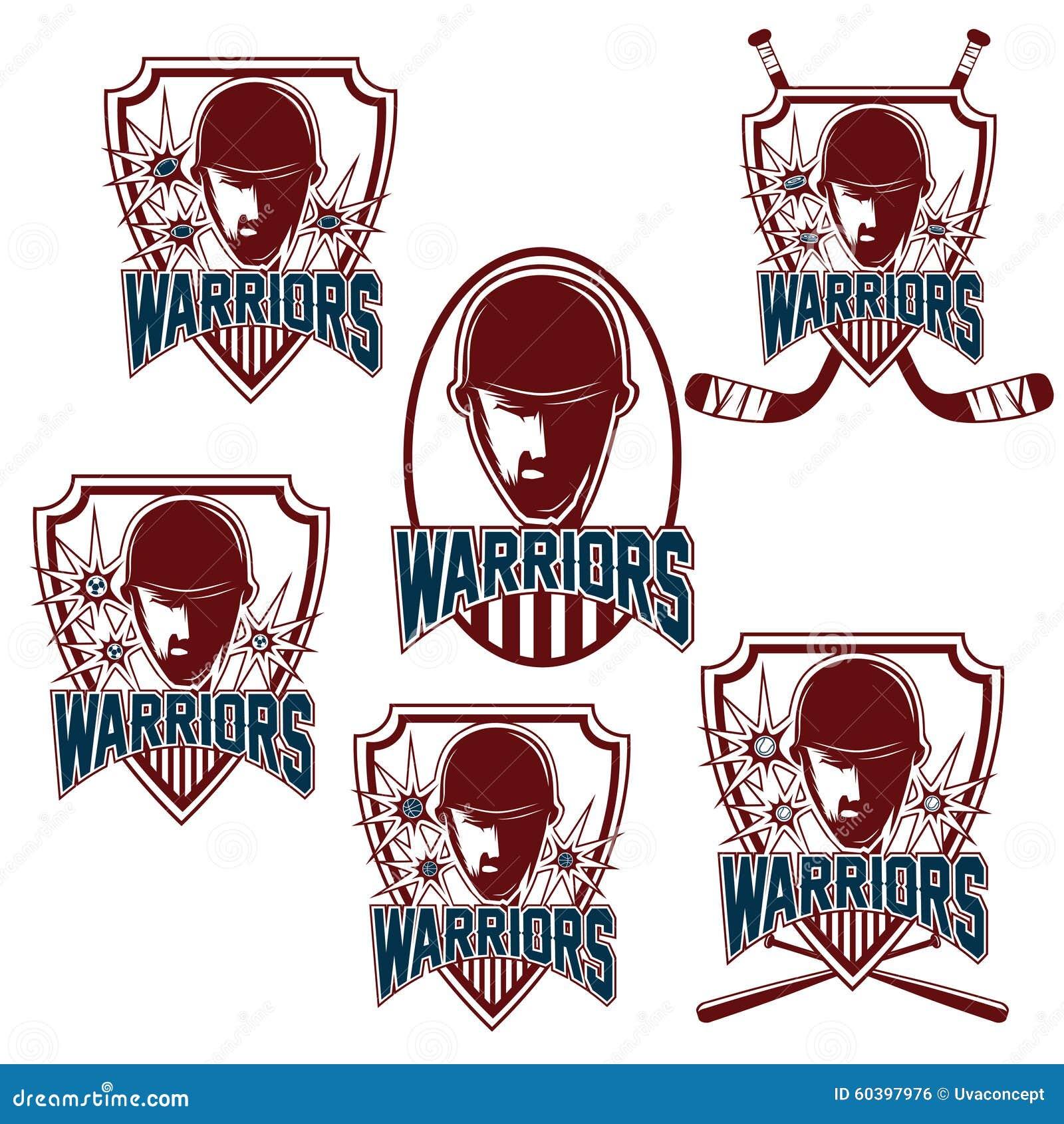 Tappningsportklubbor med krigareframsidan