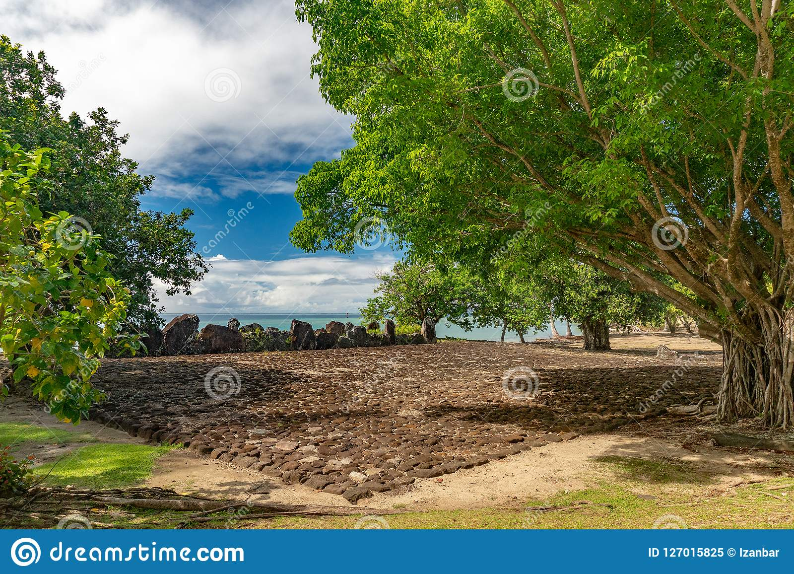 Taputapuatea Marae archäologischer Fundstätte Raiatea-Französisch-Polynesien-UNESCO