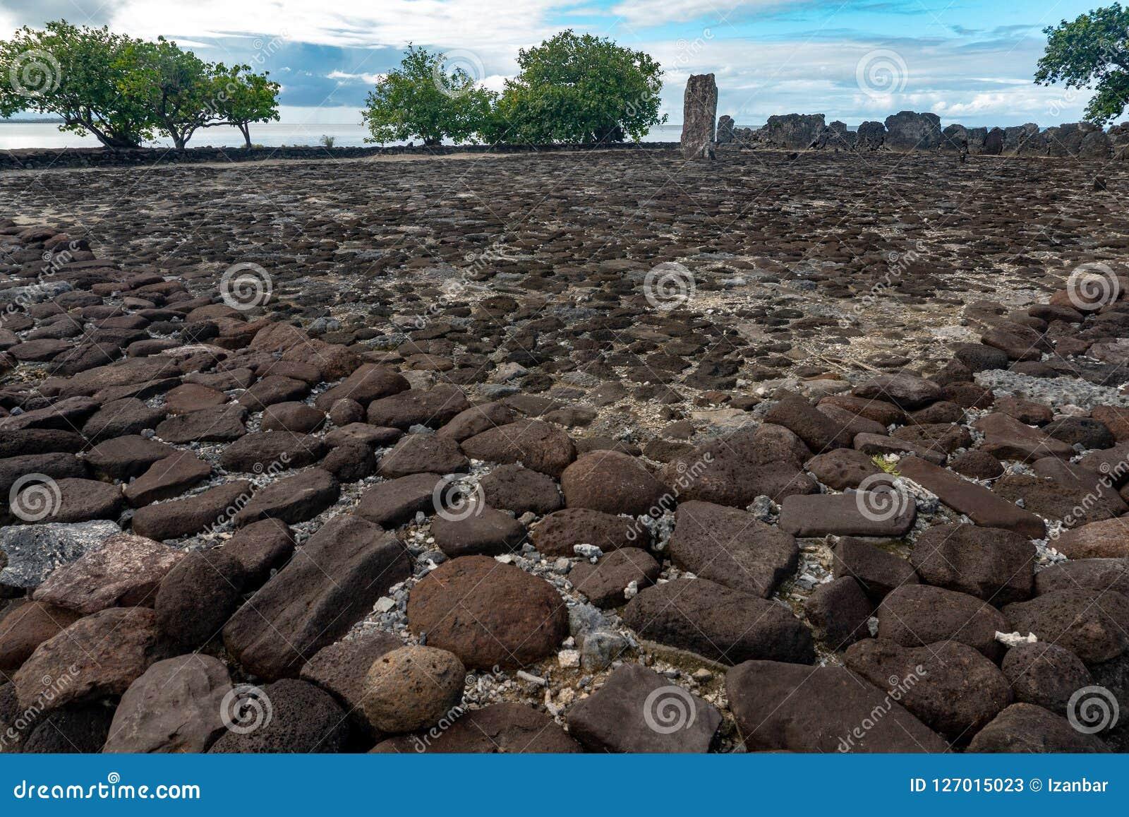 Taputapuatea Marae archeological περιοχής της ΟΥΝΕΣΚΟ Raiatea της γαλλικής Πολυνησία