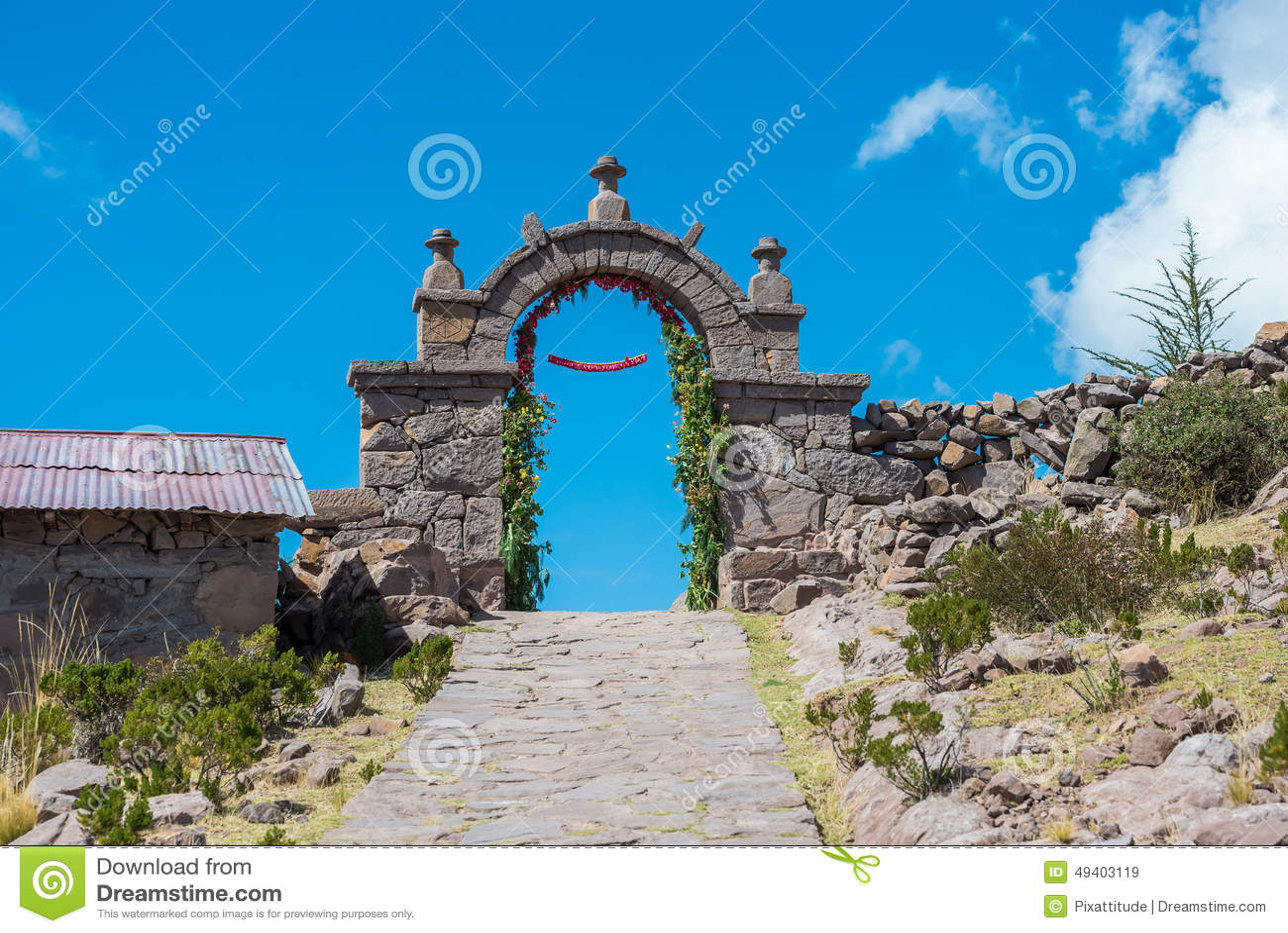 Download Taquile-Insel Titicaca Bei Puno Peru Stockbild - Bild von plätze, peruanisch: 49403119