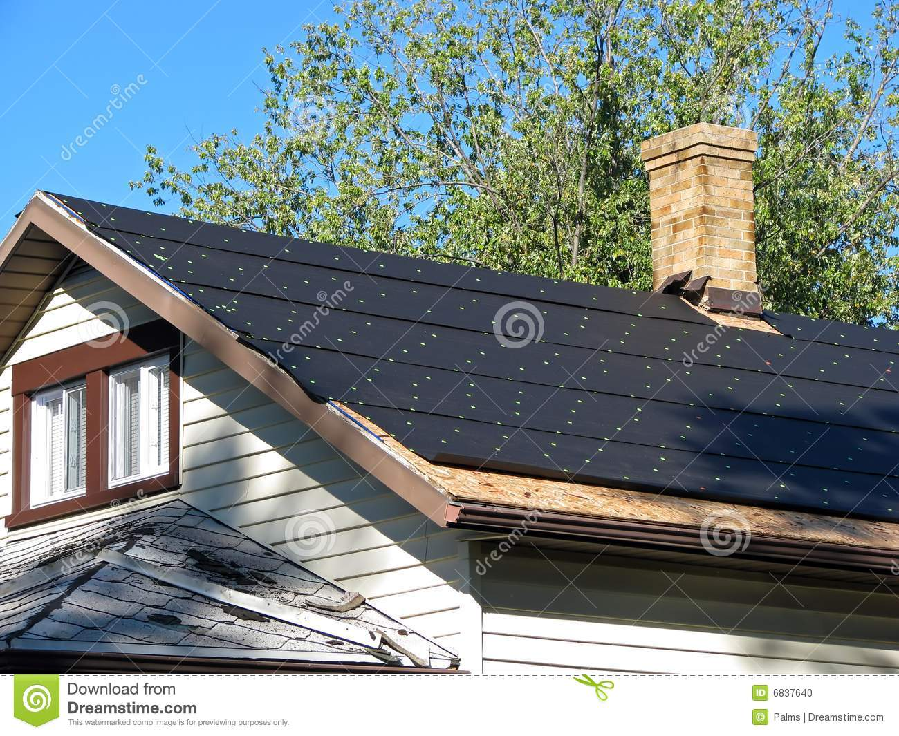 Tar Paper On A Roof