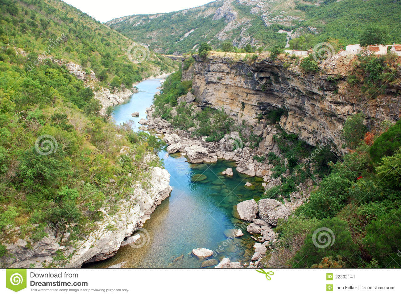 Tara River Canyon In Montenegro Mountains Stock Image Image 22302141