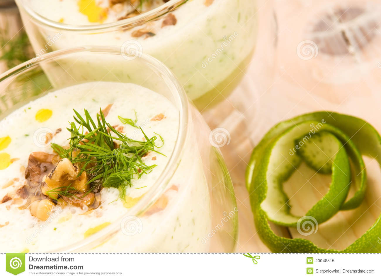 Tarator - Traditional Bulgarian Cold Summer Soup Royalty Free Stock ...