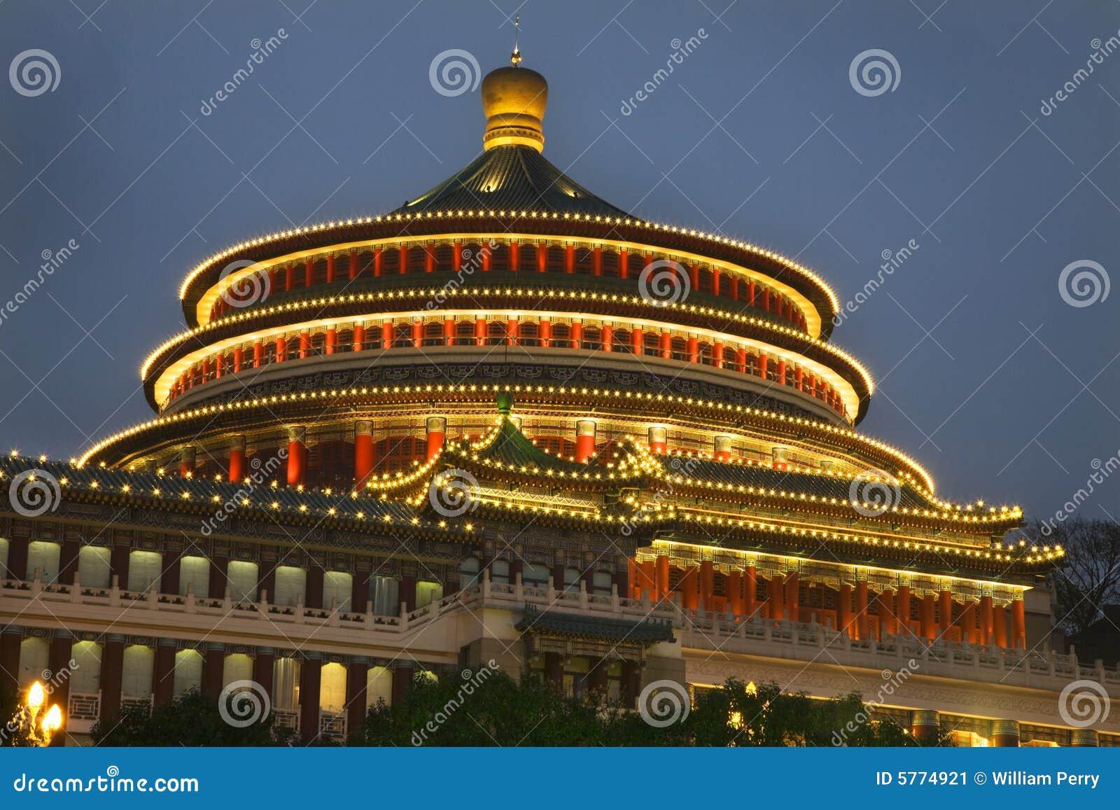 Tarde cuadrada de Renmin Chongqing Sichuan China