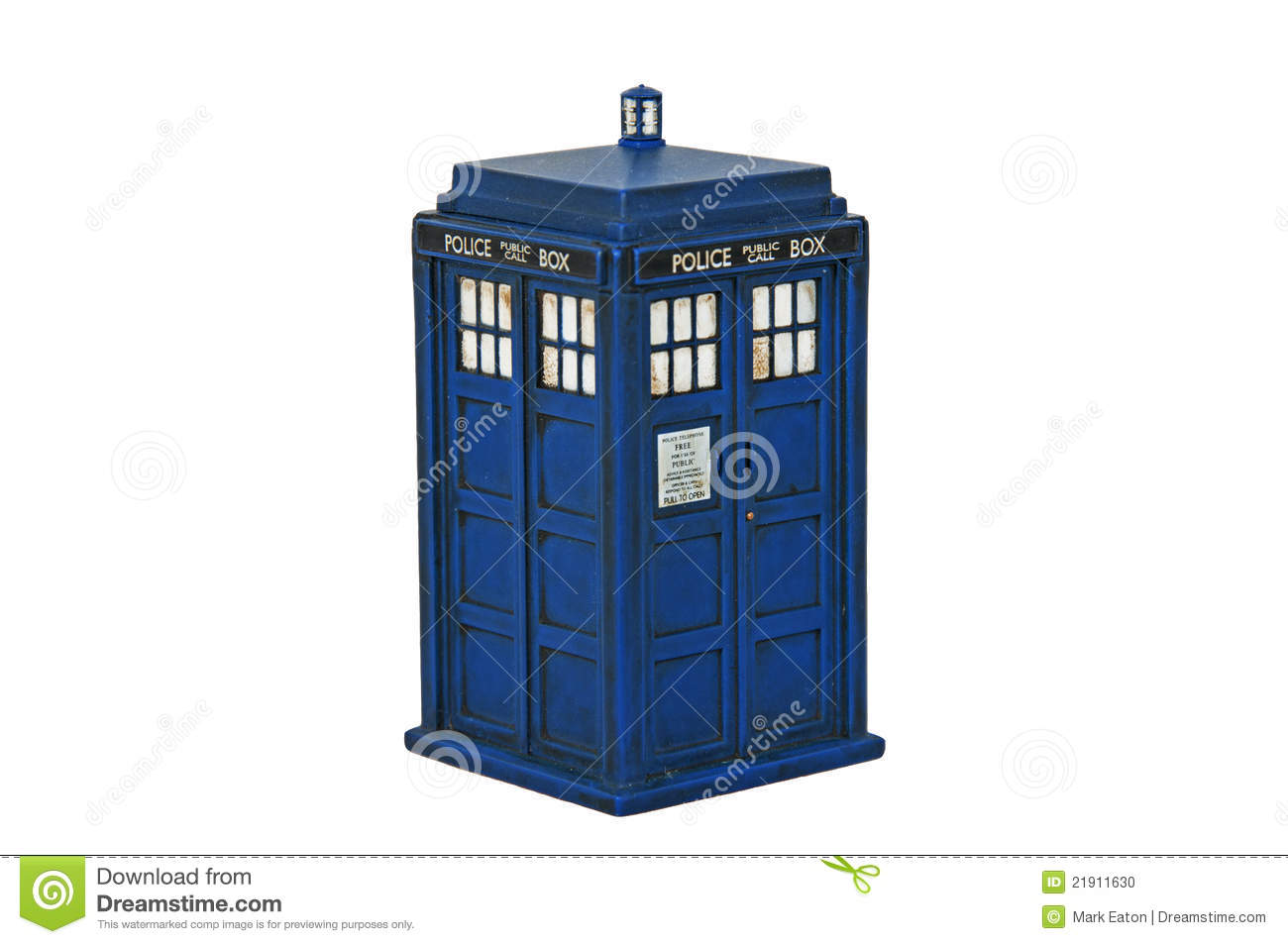 The Tardis from Dr Who