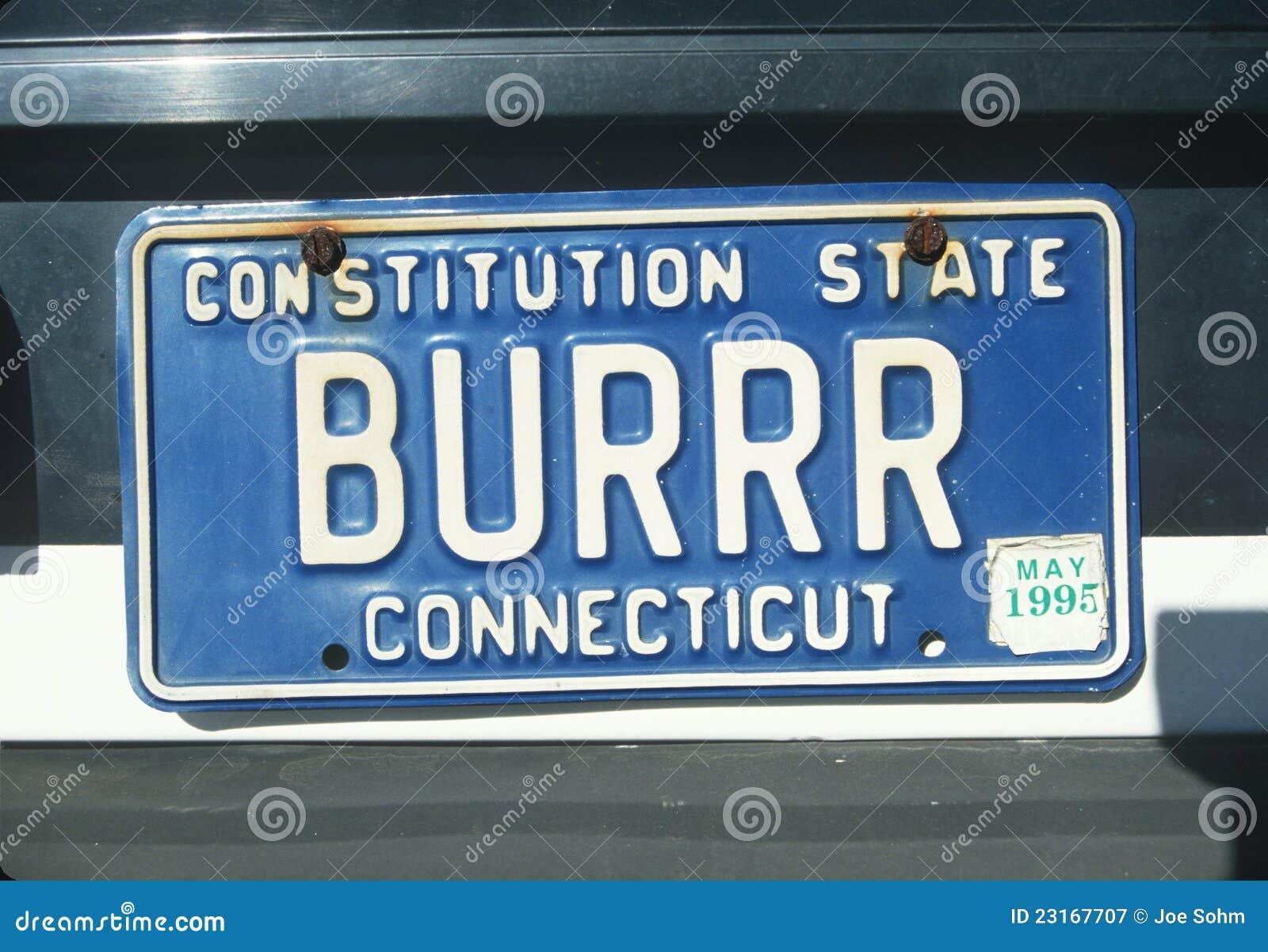Targa di immatricolazione in Connecticut