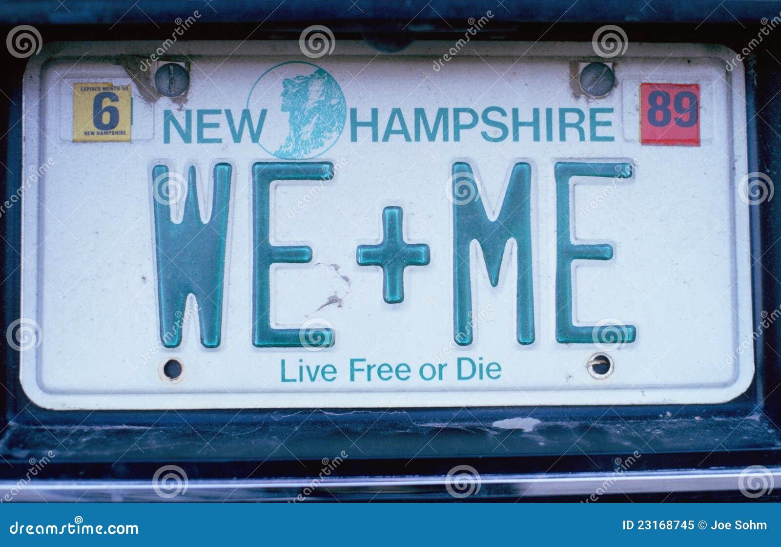Targa di immatricolazione in del New Hampshire
