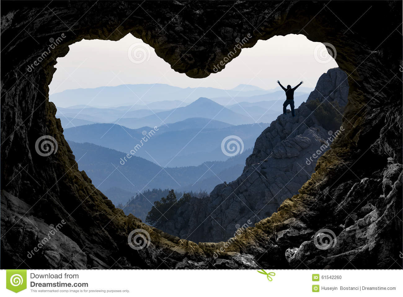 target achievement in mountain adventure stock photo image of