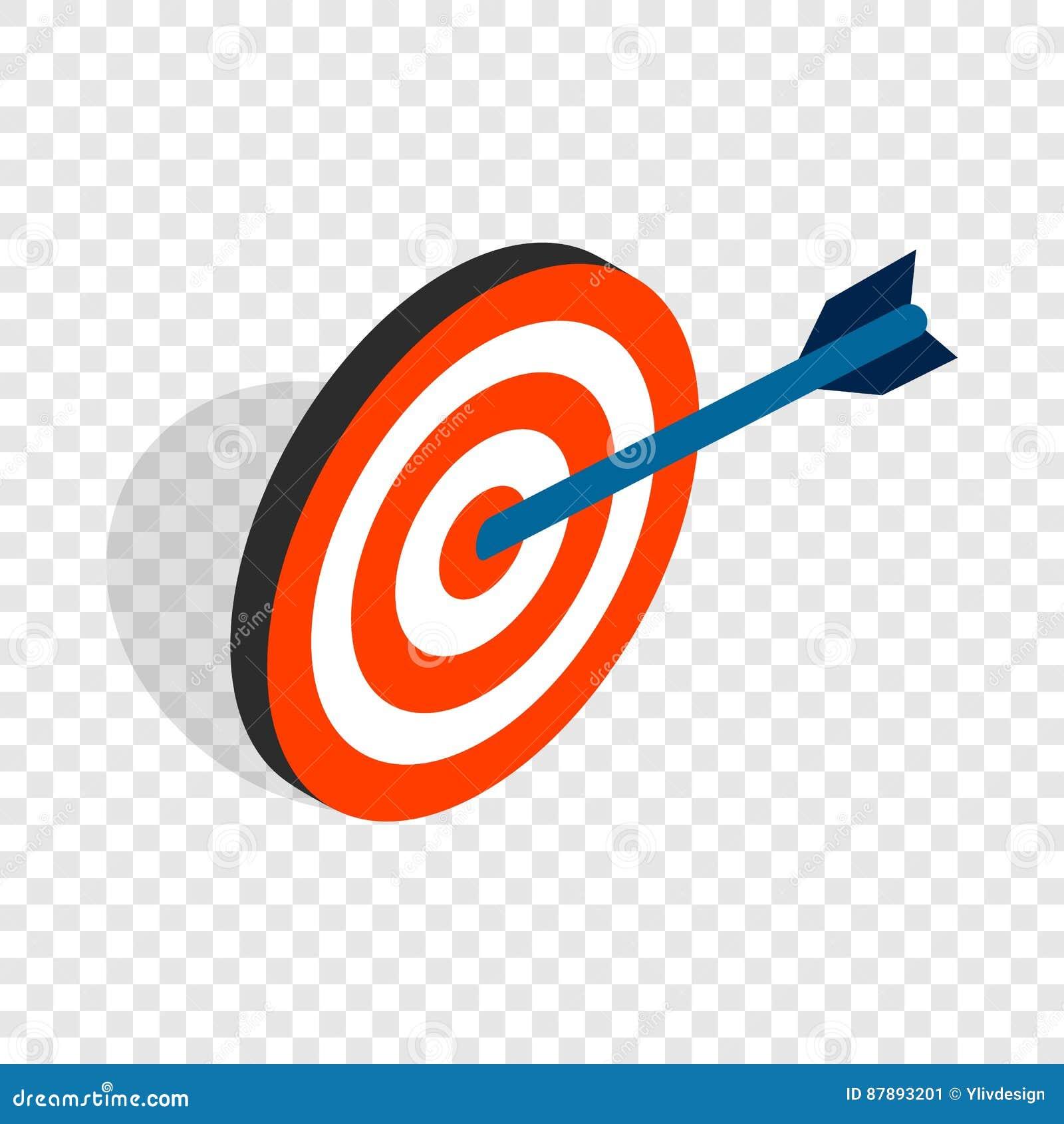 Target With Arrow Isometric Icon