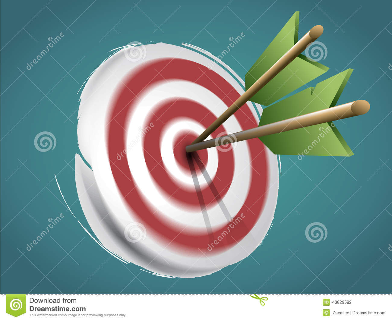 Target with Arrows and Doodles