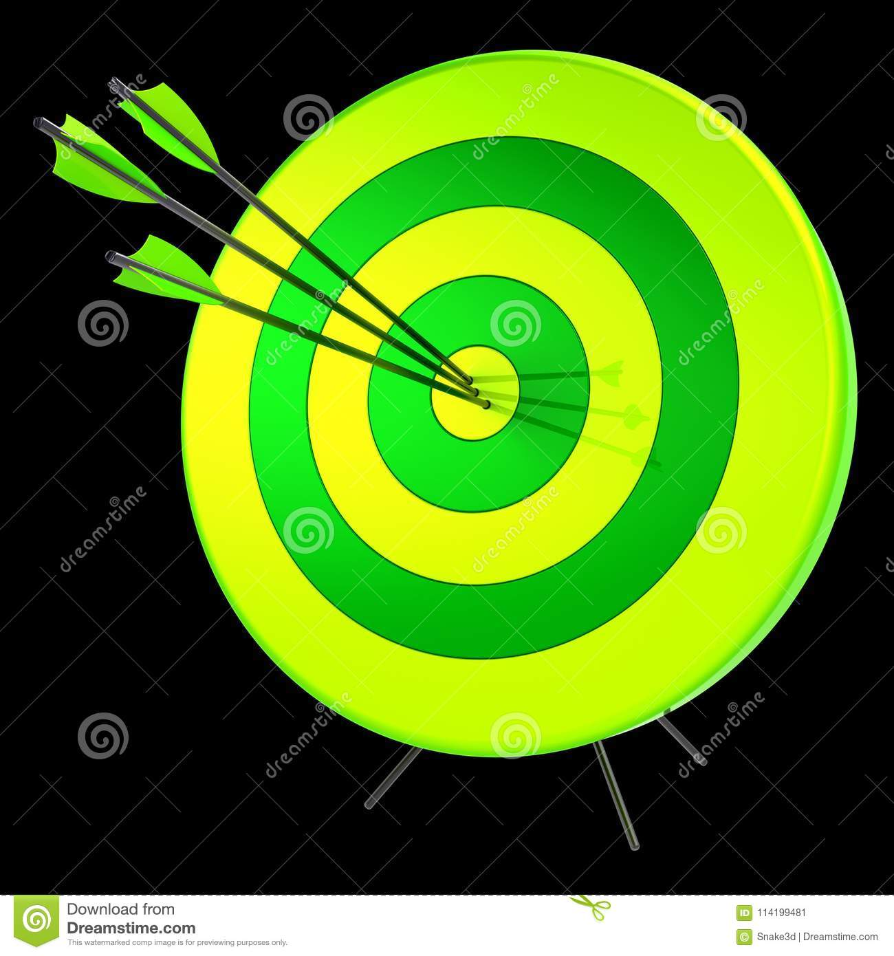 Target arrows success shooting accuracy hitting concept