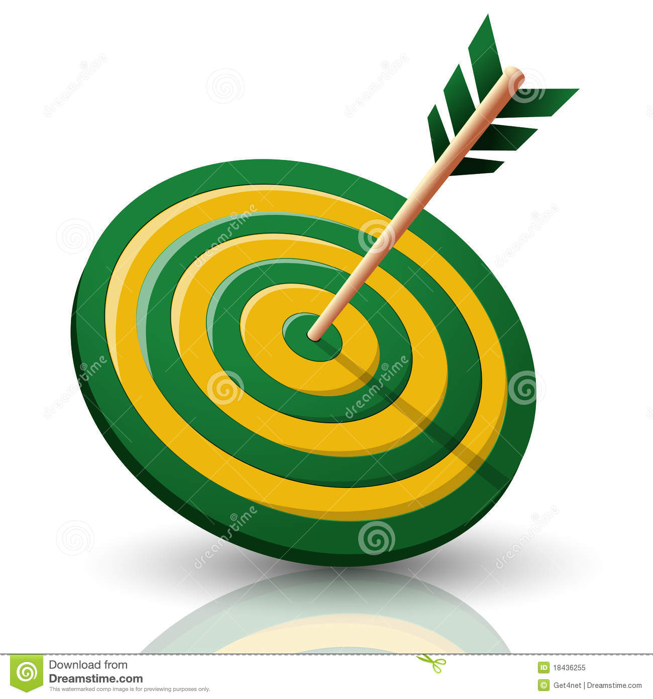 Target Board With Arrow Royalty Free Stock Photo - Image: 18436255