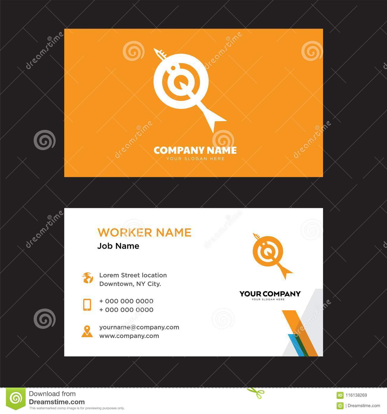 Target business card design editorial stock image illustration of download comp colourmoves
